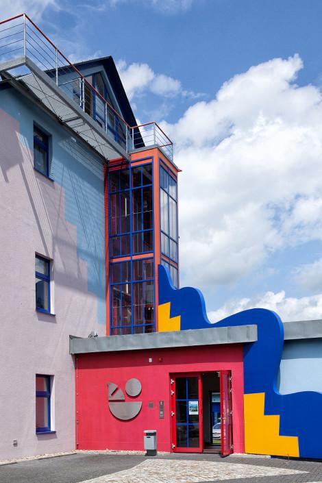 Außenaufzug Stadtwerke Olbernhau